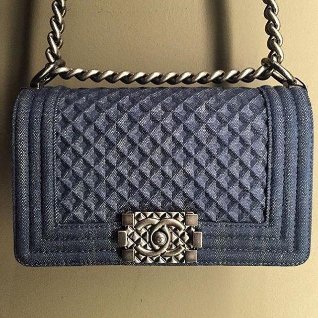 Boy Chanel Denim Diamond Quilted Bag