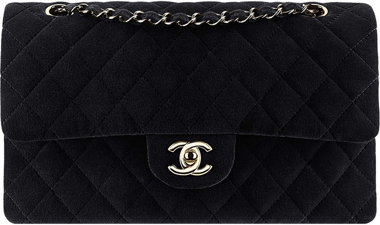 1e35ae590866 Chanel-Fall-Winter-2016-Pre-Fall-Collection-45. Chanel Velvet Classic Flap  Bag