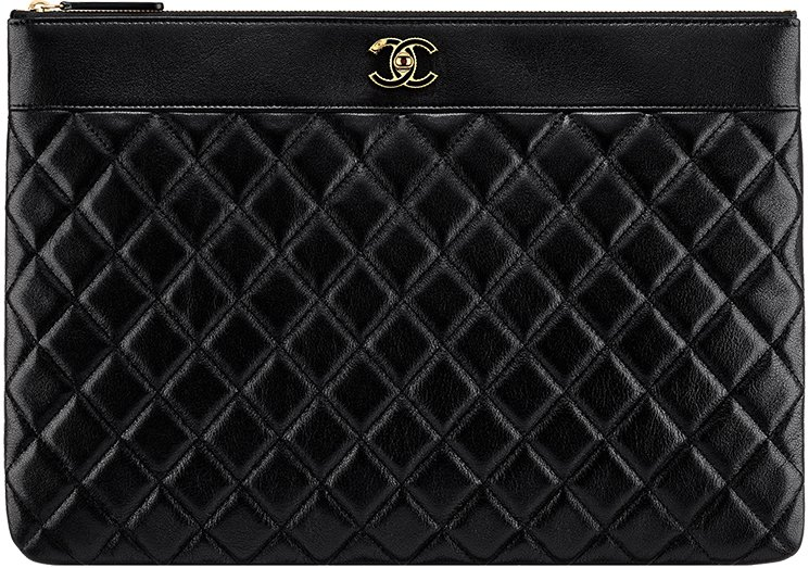 Chanel Large Quilted Pouch Bag
