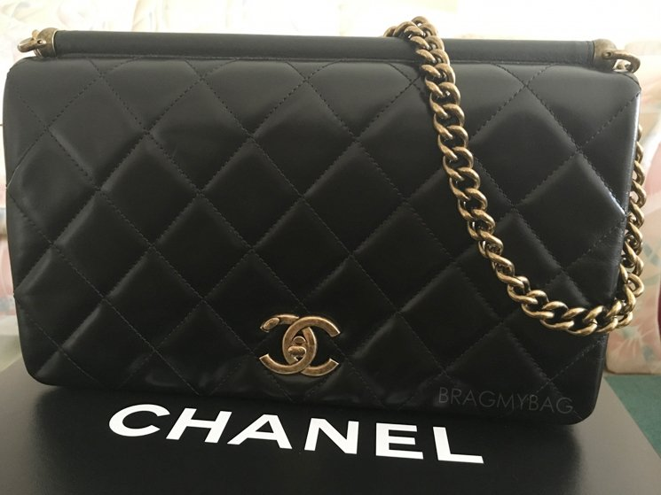 Shopping With V Lai Chanel Paris In Rome Gold Metal Flap