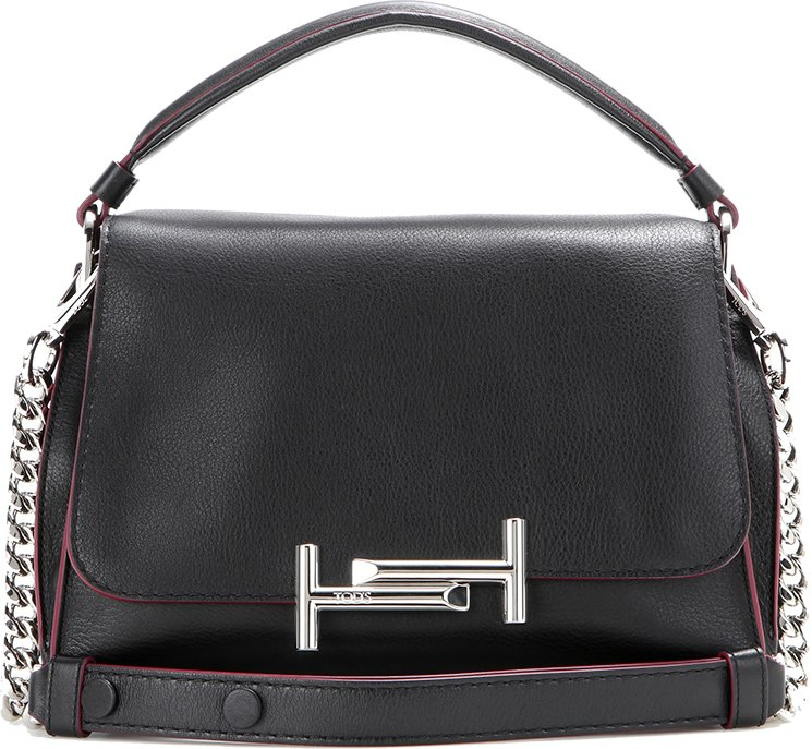 Free Shipping Fast Delivery Latest Collections Double T shoulder bag - Black Tod's Buy Cheap Best Place 23e43M