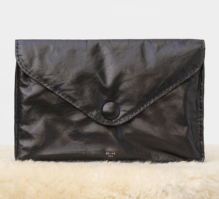 Celine-Soft-Pouch-Clutch-in-Paperweight-Calfskin
