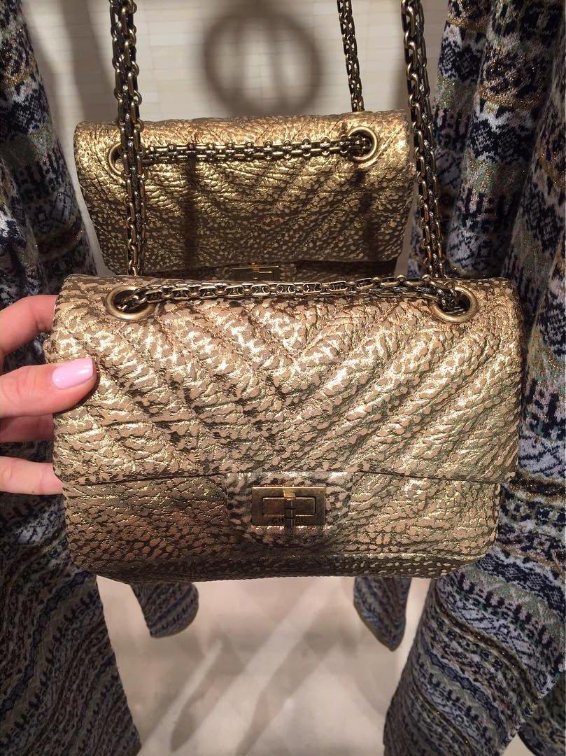 76caae7ce49a Chanel Gold Chevron Reissue 2.55 Mini Bag | Bragmybag