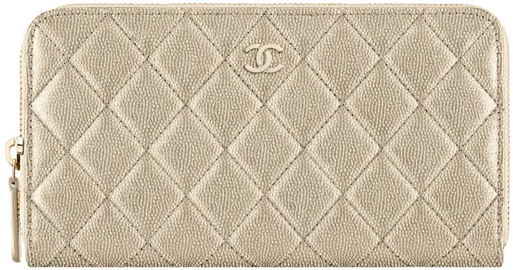 Chanel-Zip-Wallet-in-Metallic-Grained-Calfskin