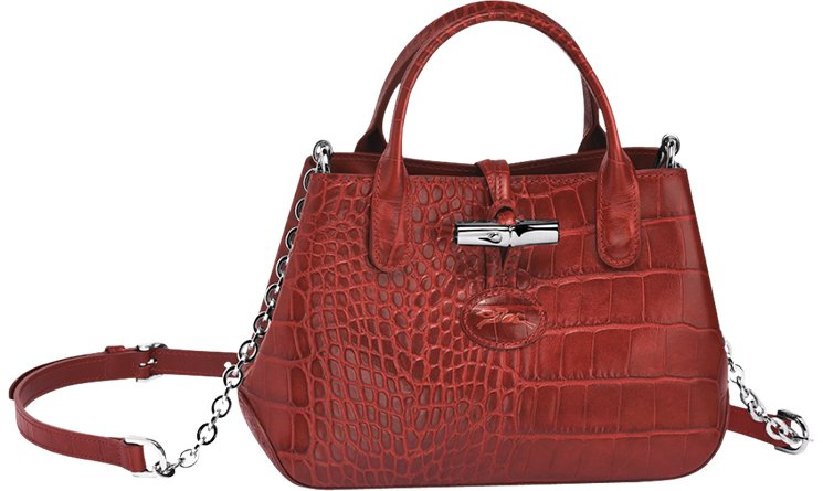 Longchamp Roseau Croco Shoulder Bag   Bragmybag