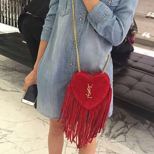 A Closer Look Yves Saint Laurent Love Heart Chain Bag