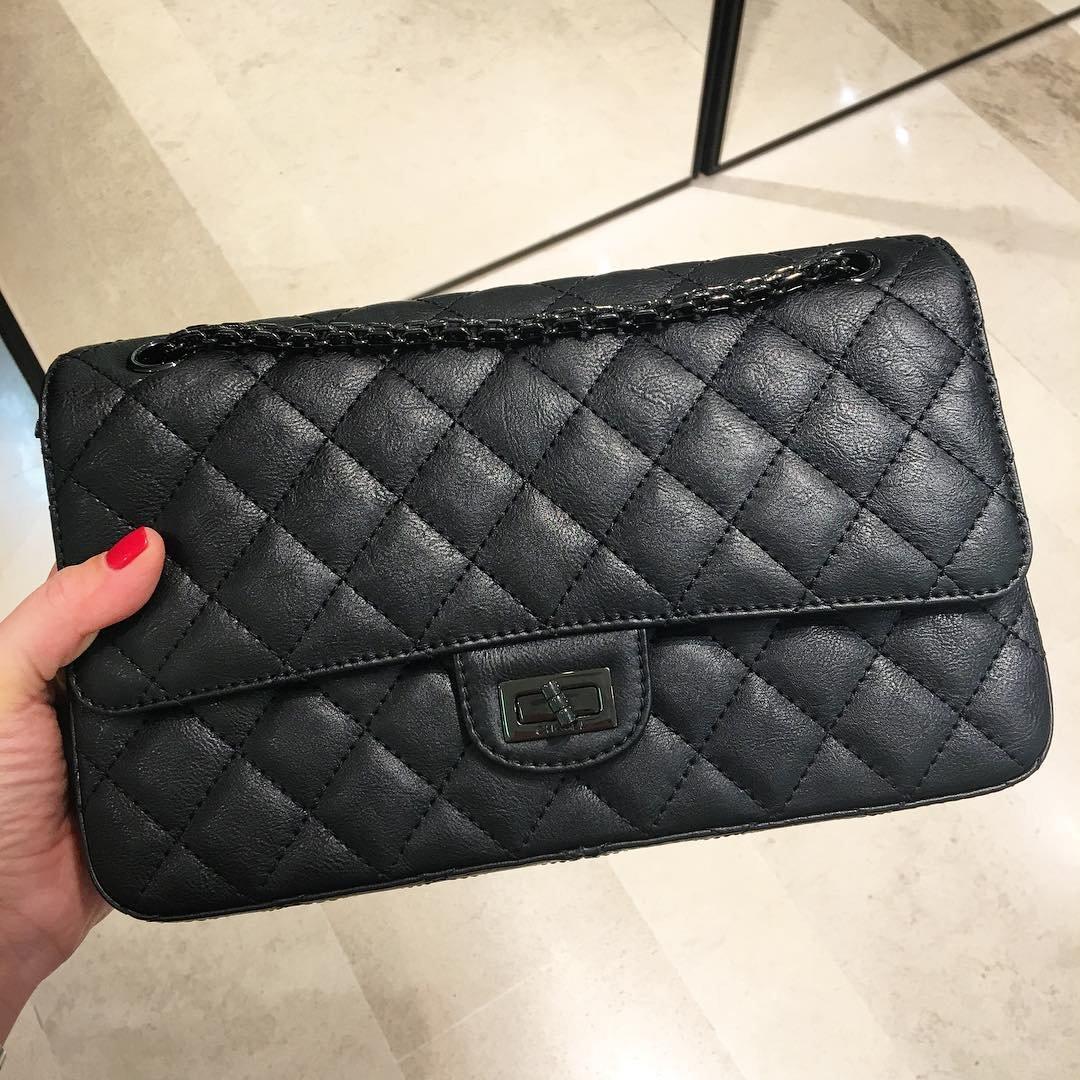 A Closer Look  Chanel So Black Reissue 2.55 Bag – Bragmybag eb6a71ba630b0