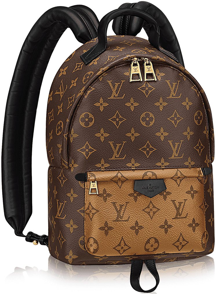 Louis Vuitton Monogram Reversed Palm Springs Backpacks ...