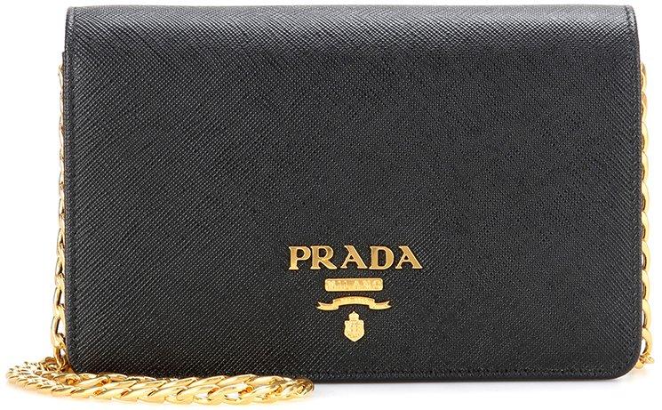 Prada Galleria Saffiano Lux Wallet On Chain Bag - Bragmybag e818a038424d1
