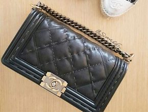 e0c8327568f2 Boy Chanel Quilted Grey Stitching Bag