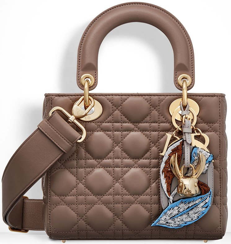 Lady Dior Bag With Embroidered Address Tag 6