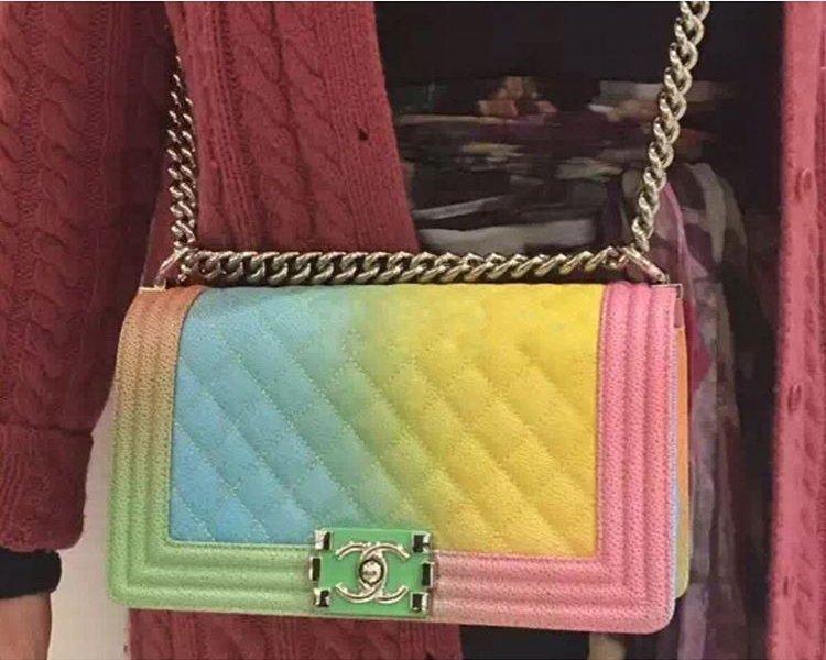 boy chanel rainbow flap bag bragmybag