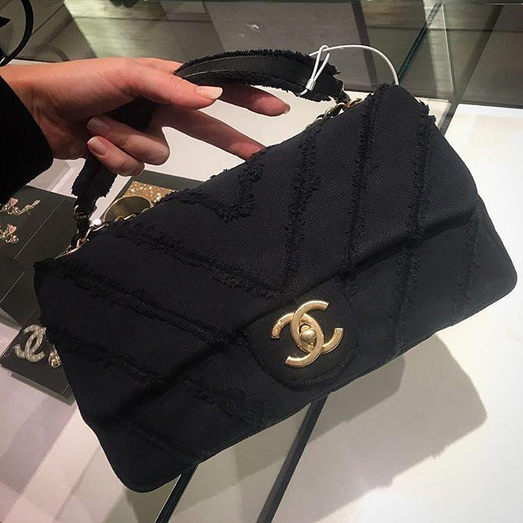 Chanel-Canvas-Chevron-Bag