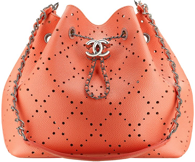 9b951b3b98d0 Chanel-Spring-Summer-2017-Collection-Act-1-82. Chanel Perforated Drawstring  Bag