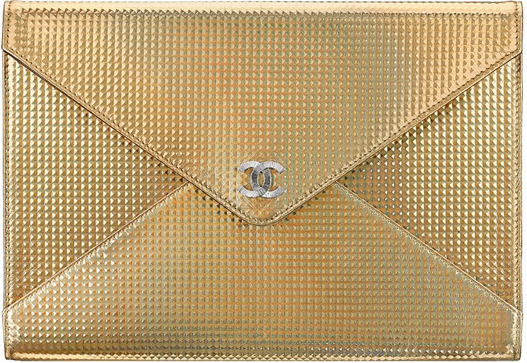 Chanel-Metallic-Studded-Clutch-Bag-2