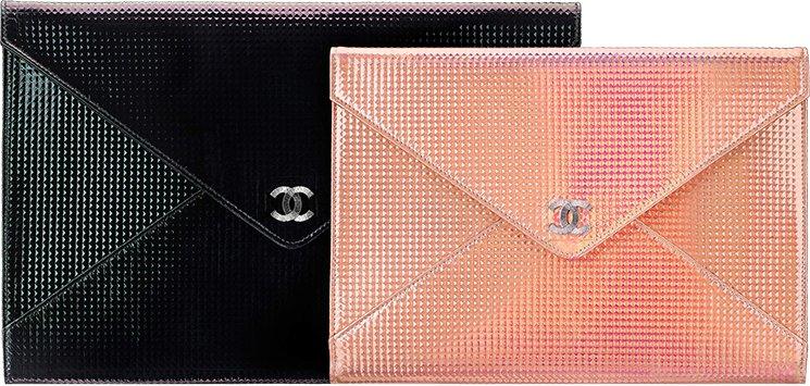 Chanel-Metallic-Studded-Clutch-Bag