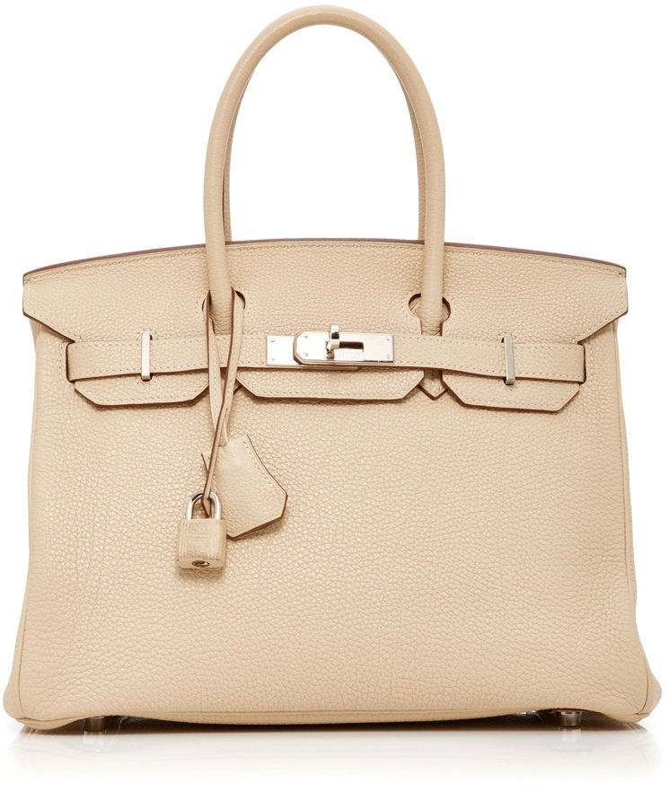 Hermes-Birkin-30-Bag-in-Parchment-Clemence-Leather