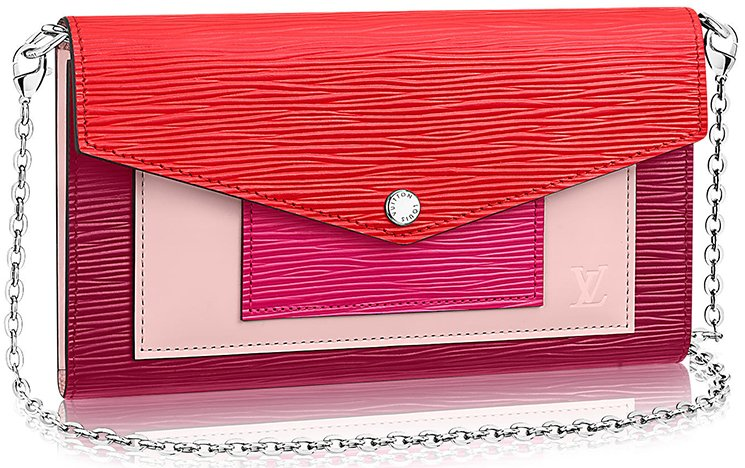 Louis-Vuitton-Multicolor-Layered-Chain-Wallet