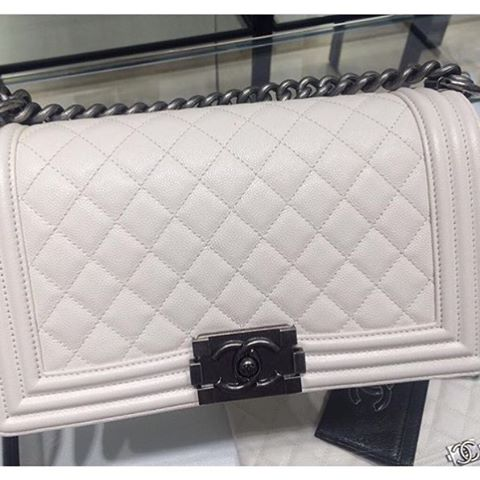 Boy-Chanel-White-Quilted-Bag
