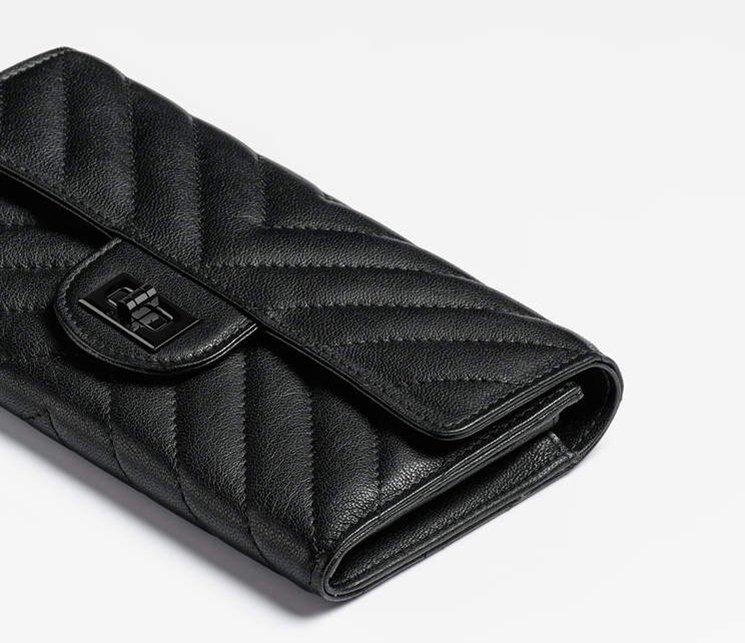 909e58e9c368 Chanel All Black Reissue 2.55 Double Chevron Flap Wallet | Bragmybag