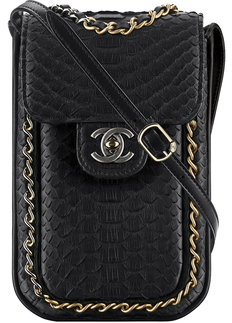 Chanel-Extra-Mini-Python-Wallet-On-Chain-Bag