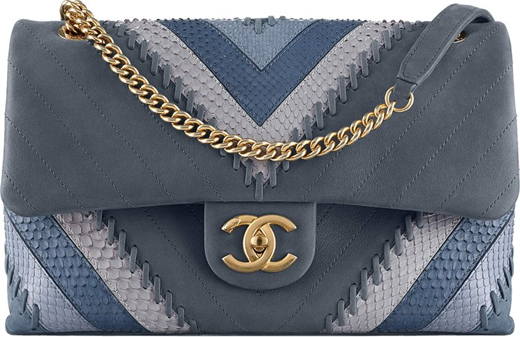 Chanel-Multicolor-Chevron-with-Stitching-Flap-Bag-3