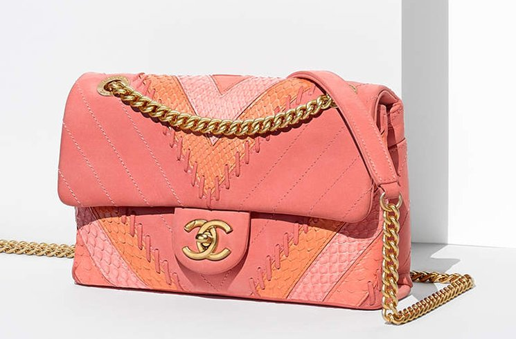 Chanel-Multicolor-Chevron-with-Stitching-Flap-Bag-4