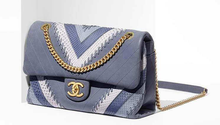 Chanel-Multicolor-Chevron-with-Stitching-Flap-Bag-5