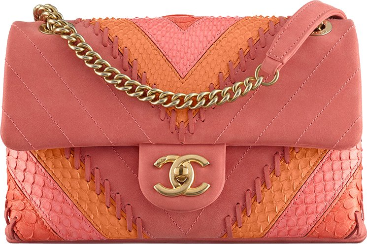 Chanel-Multicolor-Chevron-with-Stitching-Flap-Bag