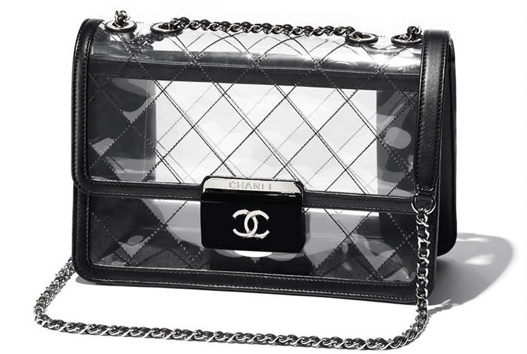 ebe77fccdab618 Chanel Transparent Tweed Flap Bag | Bragmybag
