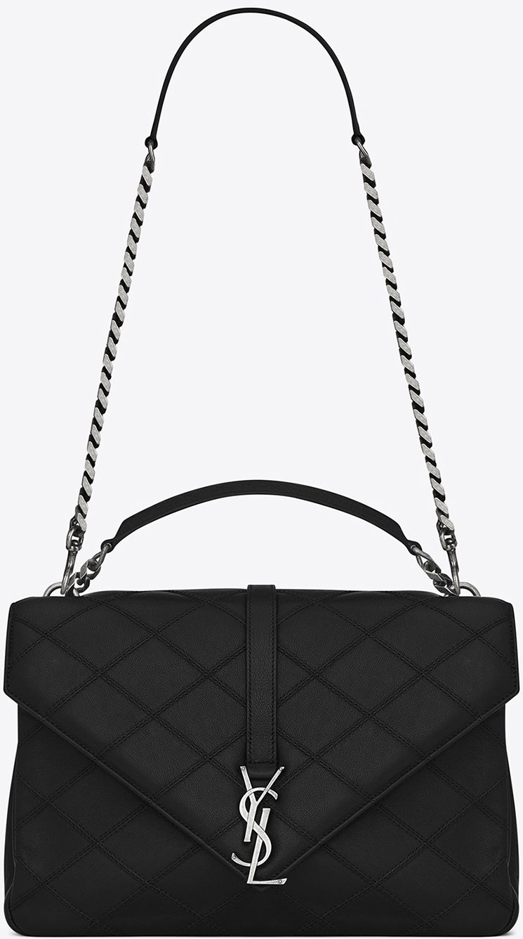 Saint-Laurent-Quilted-Stitching-College-Bag