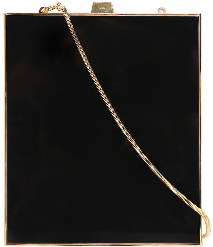Saint-Laurent-Tuxedo-Plexi-Clutch-Bag-with-Chain-2