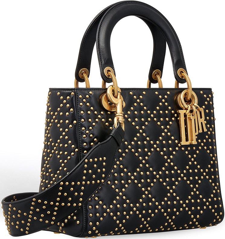 Supple Lady Dior Studded Tote Bag