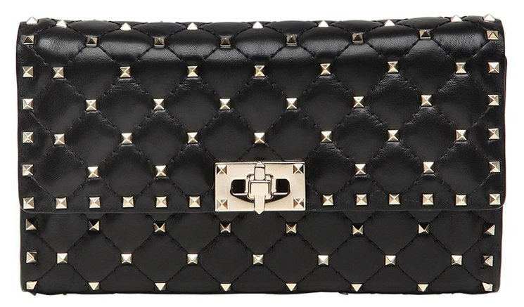 Rockstud Spike clutch bag - Black Valentino ZycfUVcpuD