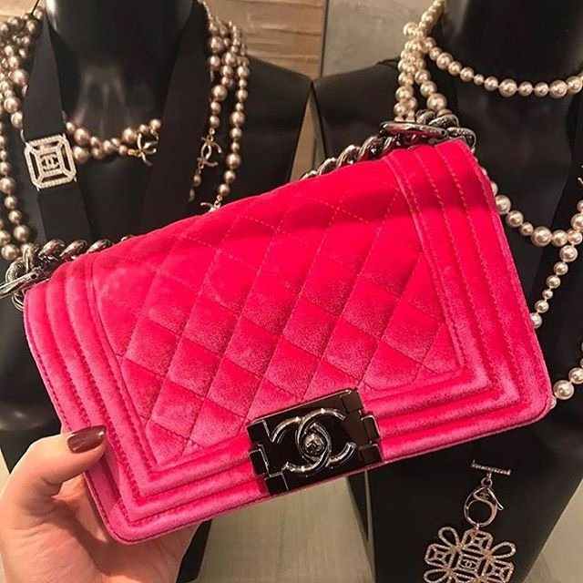 another look boy chanel quilted velvet bag bragmybag