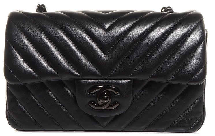 Chanel-All-Black-Chevron-Rectangle-Mini-Flap-Bag