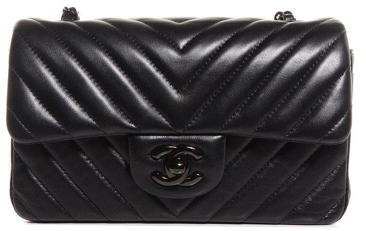 236b99f05533cd Chanel So Black Mini Classic Flap Bag (Rectangle) | Bragmybag