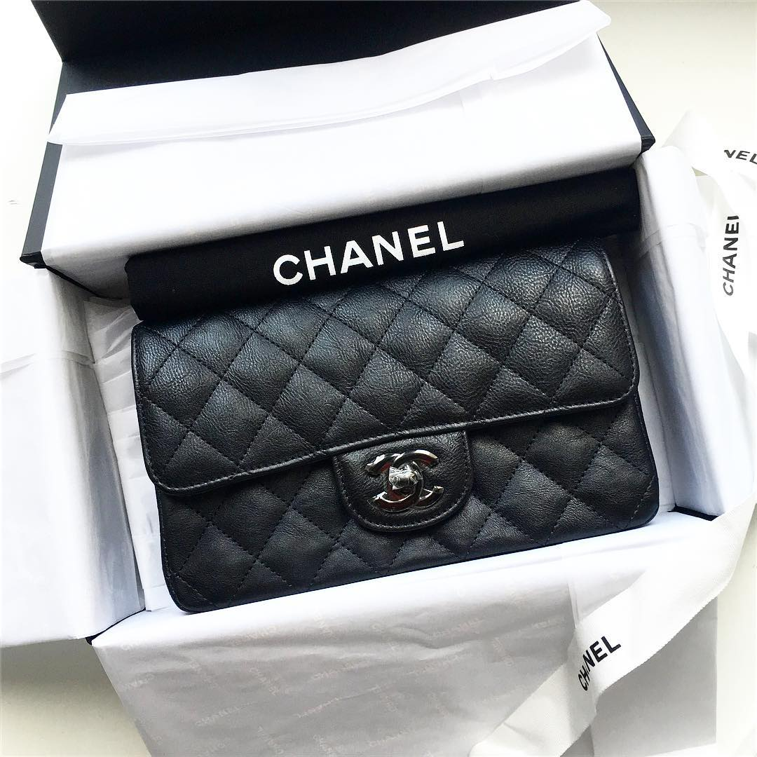 chanel so black mini classic flap bag rectangle bragmybag