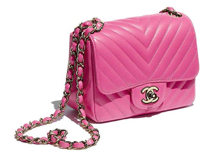 Chanel Chevron Mini Classic Flap Bag Bragmybag