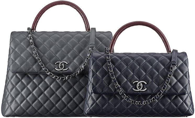 Chanel Coco Handle Bag With Python