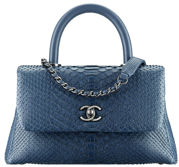 Chanel-Coco-Handle-Python-Bag