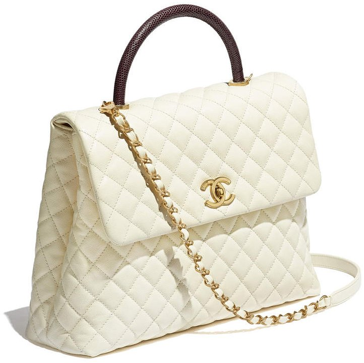 Chanel-Large-Coco-Handle-Bag-Lizard-handle-2