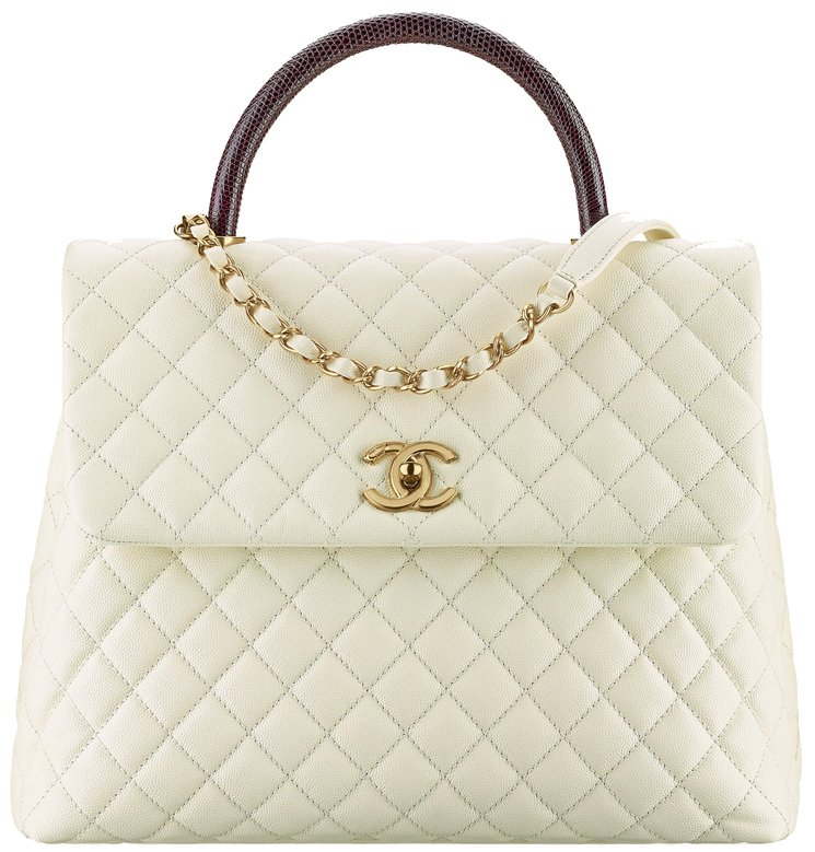Chanel-Large-Coco-Handle-Bag-Lizard-handle