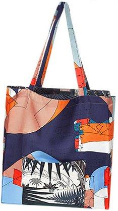 Hermes-Silk-Shopping-Bag