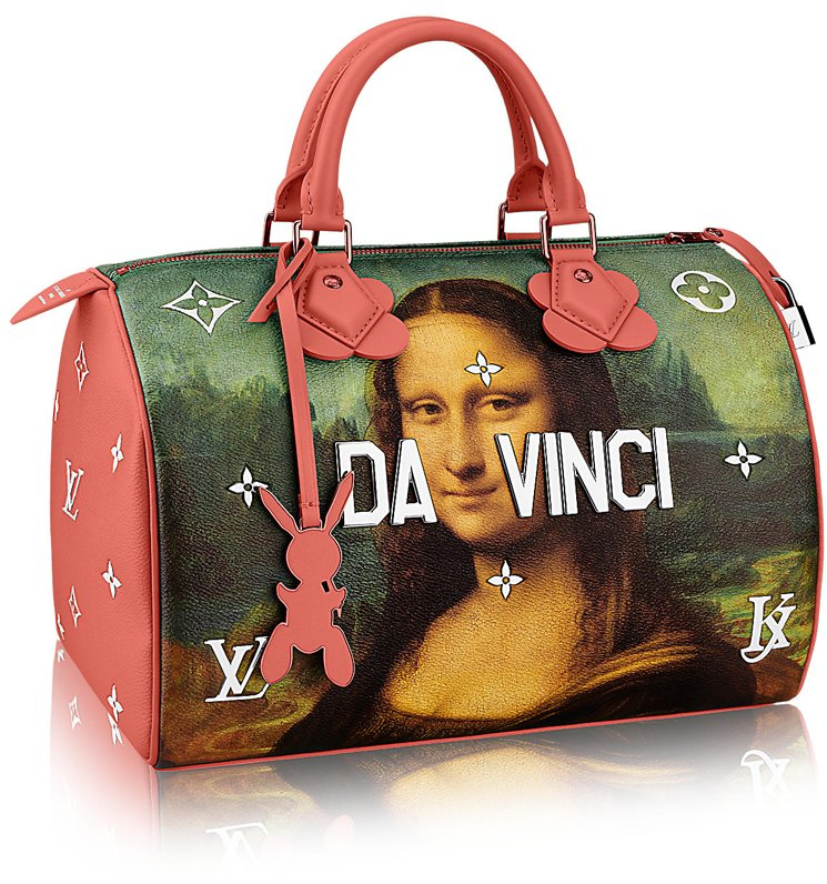 Louis-Vuitton-Da-Vinci-Speedy-Bag-Red