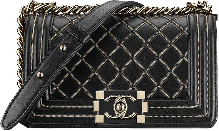 5acd07bd5b81 Small Boy Chanel Chain Quilted Bag. Chanel-Métiers-d'Art-2016-17-Paris- Cosmopolite-