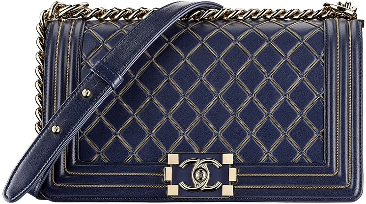 d9c430cde044 Chanel-Métiers-d Art-2016-17-Paris-Cosmopolite-. Boy Chanel Medium Flap Bag  ...