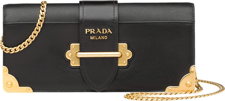 Prada-Cahier-Long-Clutch-with-Chain