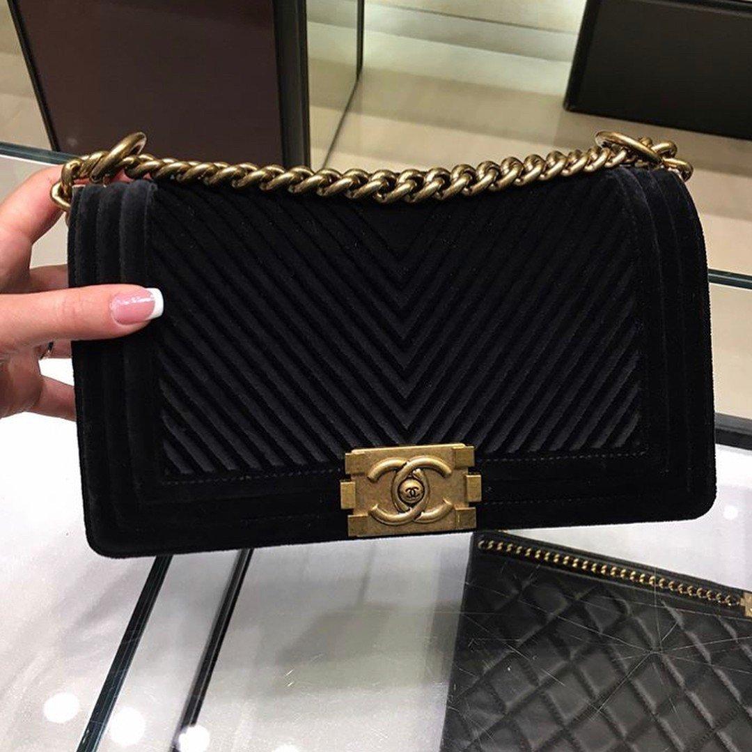 7bfdcf7101a3e6 Boy Chanel CC Chevron Flap Bag | Bragmybag