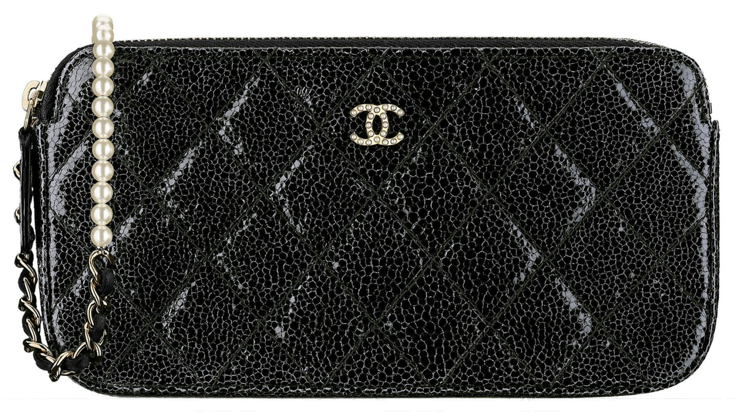 Chanel-Pearl-Clutch-With-Chain-Crackled-Patent